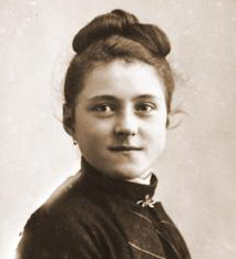 Saint Thérèse of Lisieux. Photograph taken by Mme Besnier, photographer from Lisieux.