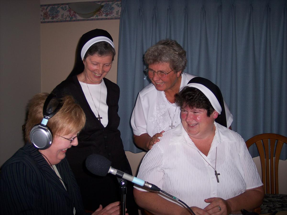 Sisters Maxine, Barbara Jean, Michael Marie and Michele at the Sisters of the Holy Family of Nazareth