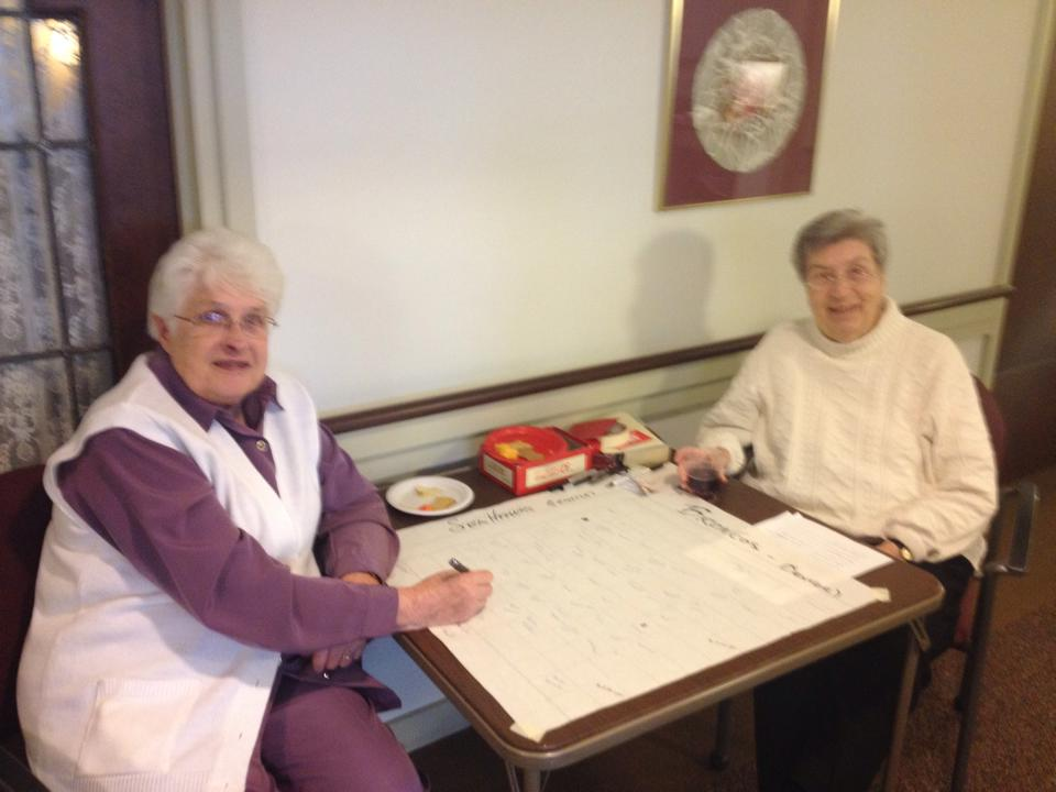 Sisters Joyce and Gabe at the IHM Motherhouse